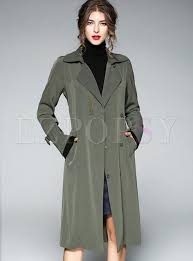 brief flare sleeve belted trench coat
