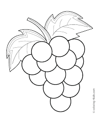 Fruits And Vegetables Coloring Pages Fruits And Vegetables Coloring
