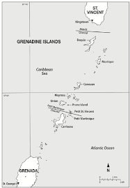 Grenada Climate Chart Map Showing The Grenadine Islands St Vincent And Grenada