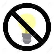 No light symbol do not turn on sign control electricity and energy