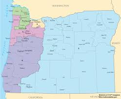 District Lines Size Chart Oregons Congressional Districts Wikipedia