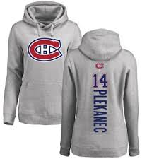 Pullover Canadiens Montreal Ash Hoodie Tomas Backer Plekanec Women's