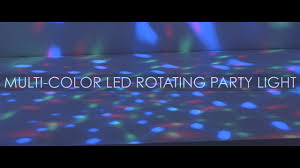 Paradise 2 In 1 Rotating Party Light Paradise Multicolor Led Rotating Party Light Youtube
