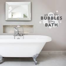 on toilet wall art quotes with you are the bubbles to my bath wall decal quote wallums