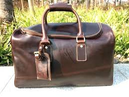 mens overnight bag new wo vintage real leather travel luggage weekend brown in bags from on mens overnight bag canvas travel