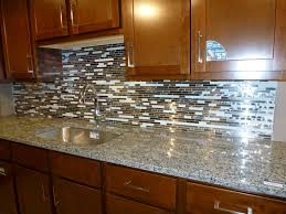 image of kitchen glass tile backsplash style