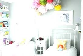 Childrens Bedroom Decorating Ideas Bedroom Decor Toddler Bedroom Decor Two  Beds With White Bedding And Colorful Ceiling Decorations White Bedroom Decor  ...