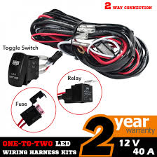 2 way universal wiring loom harness light bar rocker switch kits 12v 2 way universal wiring loom harness light bar rocker switch kits 12v 40a relay