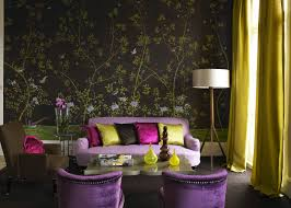 Purple And Green Living Room Decor Living Room Awesome Wallpaper In Nature And Bird Scenic Glass