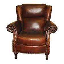 brown leather wing chair at hayneedle