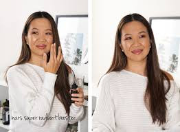 nars makeup look wearing super radiant booster the beauty look book
