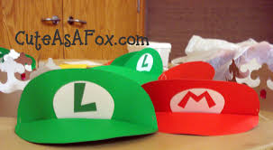 mario and luigi visors and princess peach crowns update a tutorial for the visors can be found here