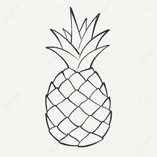 pineapple clipart black and white. outline black and white image of a pineapple royalty free cliparts, vectors, stock clipart e