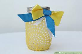 Decorating Mason Jars With Ribbon 100 Ways to Decorate a Mason Jar wikiHow 91