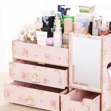 makeup organizer wood. fashion diy wood cosmetic organizer with mirror tissue box 31*21*23cm women makeup wooden storage box-in underwear from mother \u0026 kids on x