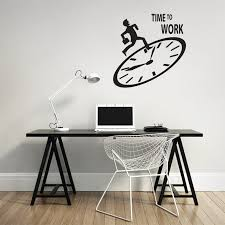 office wall decal. Dream On Walls Time To Work - Office Wall Decal L