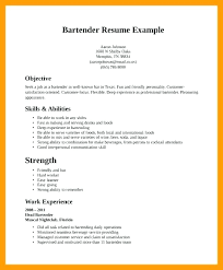 Bartending On A Resume Best Restaurant Bartender Resume Example