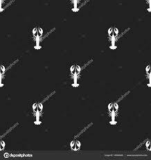 黒い背景にシームレス パターンのロブスター壁紙織物衣料品紙に