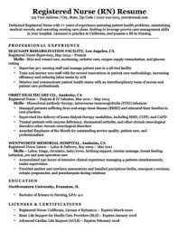 Nurse Case Manager Resume Sample | Resume Companion