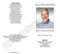 Memorial Pamphlet Template Blank Funeral Program Template Memorial Elegant Memorials