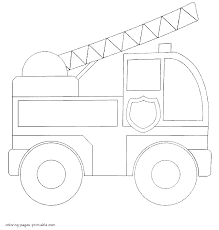Small Picture Simple fire truck Coloring pages for toddlers
