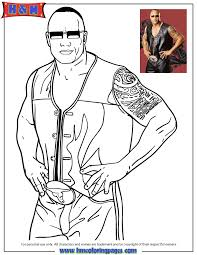Small Picture Free Printable WWE Wrestling Coloring Pages H M Coloring Pages
