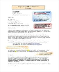 Sample Of Cover Letter For Proposal Submission Business Proposal