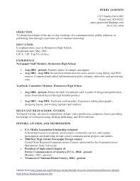 Good College Resume Examples Job Resume Examples For High School