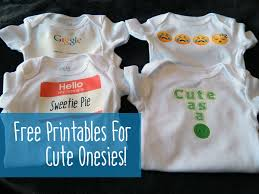 free printable iron ons for cute baby onesies