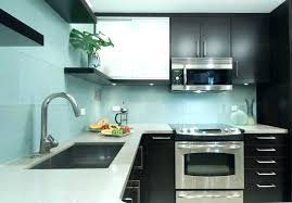 kitchen blue glass backsplash. Light Blue Backsplash Tile Glass Kitchen Contemporary With  Wood Floors E