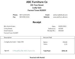 example receipt template free word receipt template