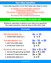 two step equation a maths dictionary
