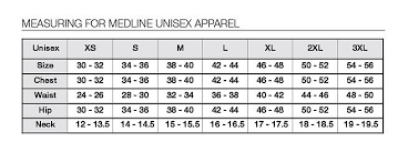 Scrub Top Size Chart Angelica Unisex Tops 610