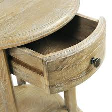 limed oak side tables round nightstand coffee table