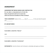 Agreement Contract Sample Between Two Parties