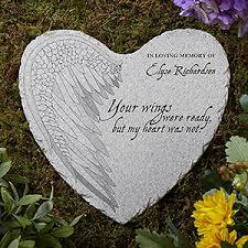 sympathy gifts heart garden stone