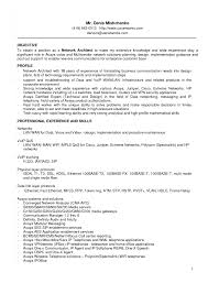 Wonderful Network Engineer Resume Objective Curriculum Vitae