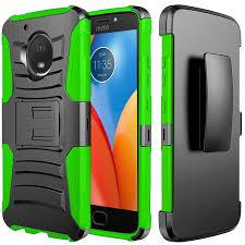 motorola e4 phone case. motorola moto e4 holster case, [redshield] dual layer [black] hard case phone c