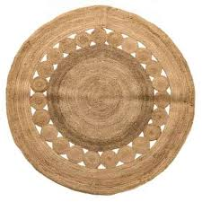 artisan home made in india jute round area rug 5 in jute closeouts