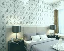 Graue Tapete Schlafzimmer Wohndesign
