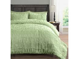 ruched beddings 3 piece king cal king