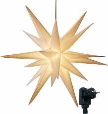 3d Leuchtstern Mit Warm Weißer Led Beleuchtung Und T Real
