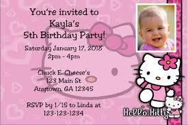 Hello Kitty Party Invitation Hello Kitty Photo Invitations Click To Personalize
