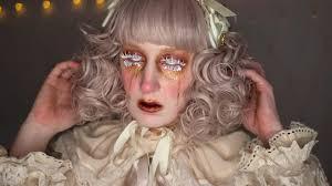 creepy victorian broken doll makeup tutorial