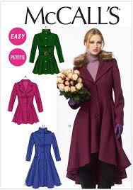 Mccalls Pattern Custom Misses Petite Lined Coats Belt etc McCalls Pattern 48 Sew