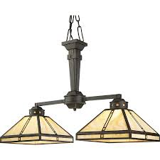 arts and crafts chandelier. Progress Lighting Arts And Crafts 34-in 2-Light Weathered Bronze Tinted Glass Shaded Chandelier