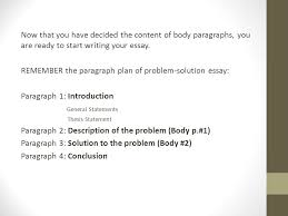 problem solution essay ppt video online remember the paragraph plan of problem solution essay