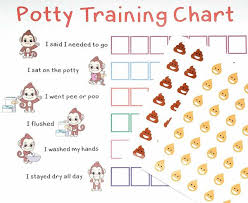 Potty Training Sticker Chart Reward Monkey Design For Toddler Girls And Boys T
