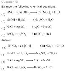 solutions for class science chapter 1 chemical reactions and equations examples of combination reaction 20 equ balanced 20 chemical equations