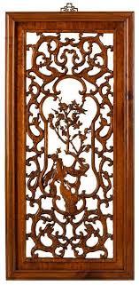 carved panel in warm elm spring
